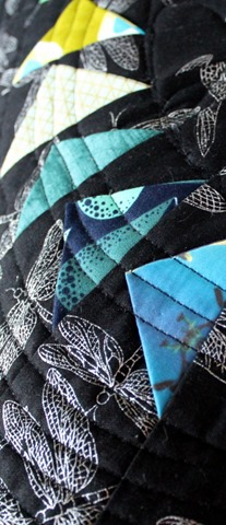 Turning Points Quilted Pillow Detail