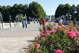 De uitgang van Vigelandsparken