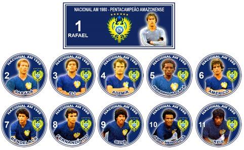 108 - Nacional 1980 - Pentacampeão Amazonense