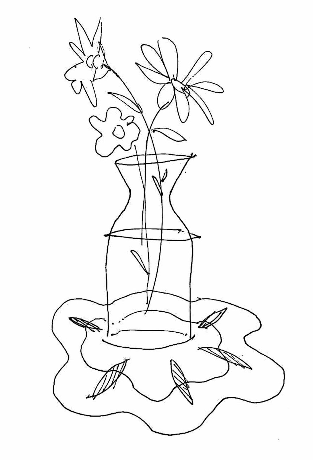 vase sketch2 204x300 Wedding