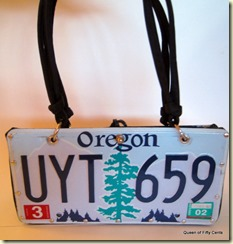 license plate purse