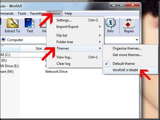cara menggantik tampilan ikon aplikasi winrar