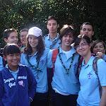 La Unidad Scout Achinet antes de comenzar la reforestación
