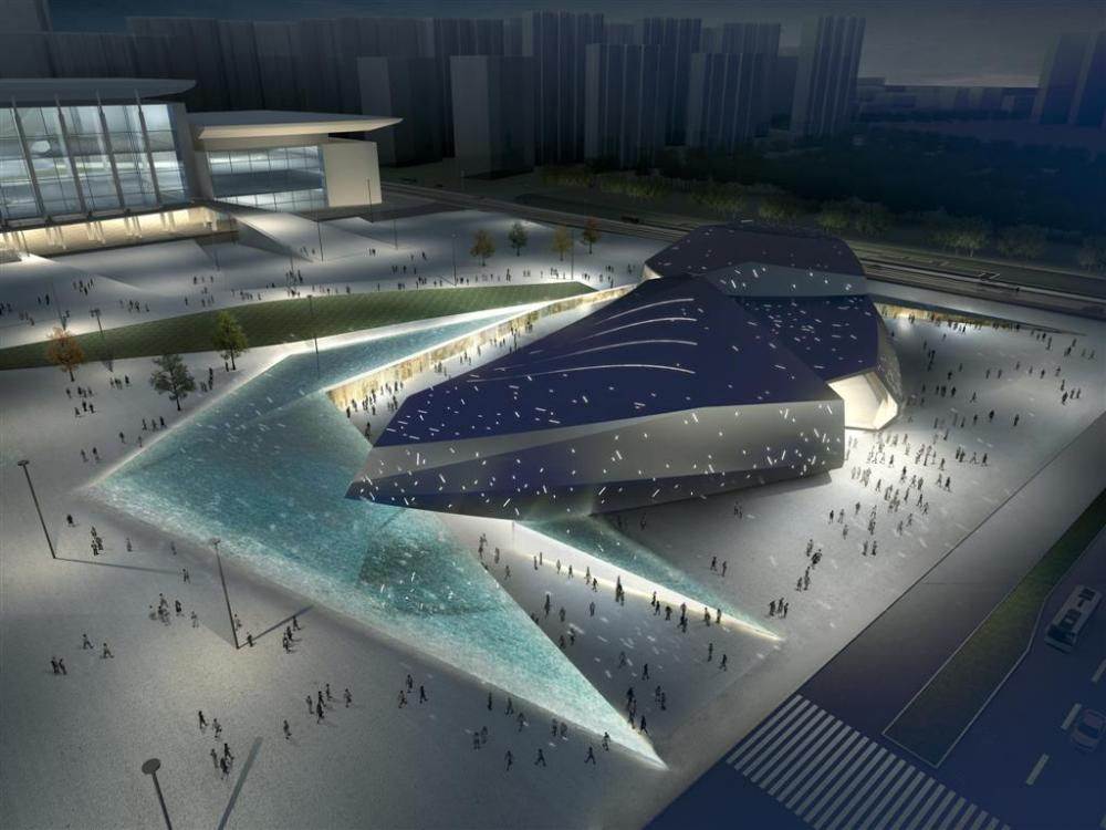 Street of Nigeria, Malabo, Guinea Equatoriale: [HIGH-TECH SCIENCE AND TECHNOLOGY CULTURE CENTER BY RTA-OFFICE]