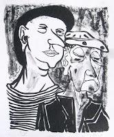 Dej BAO. 068 . Un Chemin dans la Pierre . 1978 .Lithographie . 36,5 x 55 cm