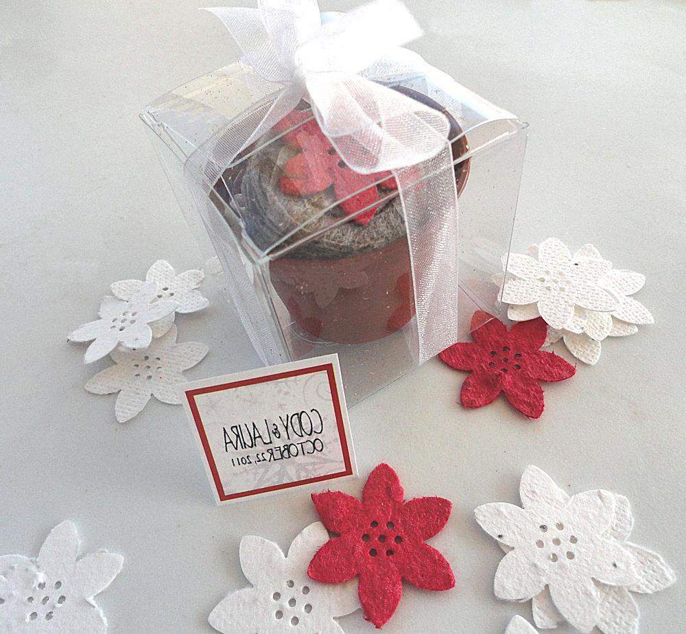100 Poinsettia Wedding Favors