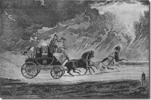 Mail coach in a thunderstorm Gutenberg