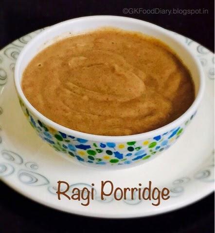 Ragi Porridge Recipe