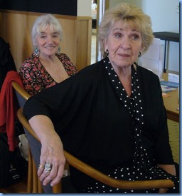 Our intrepid heros on the 'desk' - Delyse Whorwood (left) and Magaret Black (right). Photo courtesy of Diane Lyons.