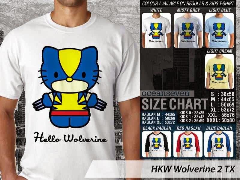 Jual Kaos kartun lucu Wolverine 2 distro ocean seven