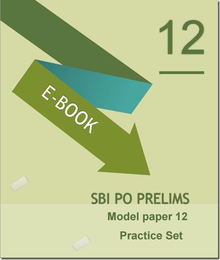 SBI PO Preliminary Model Paper 12