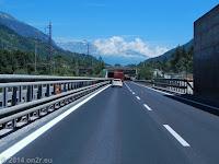Kurze Autobahnetappe: Auf der E70 von Oulx bis Susa.