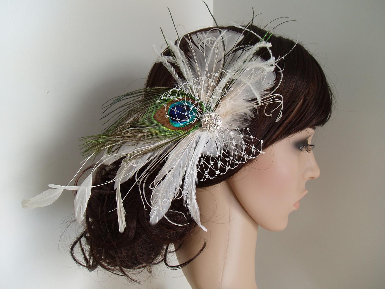 Bridal Hair Clip. Ivory