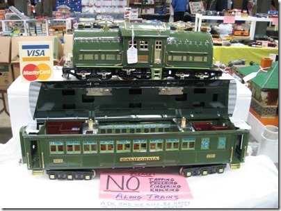 IMG_5948 Lionel 381E Locomotive & State Set Coach for sale at the Great Train Expo in Portland, Oregon on February 14, 2009