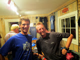 Mike with Bruce Watson, after the Big Country show in New Hampshire