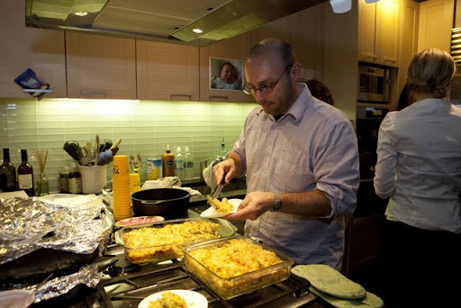 Tim serves his mac and cheese