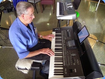 Michael Bramley playing the Korg Pa3X during Happy Hour.