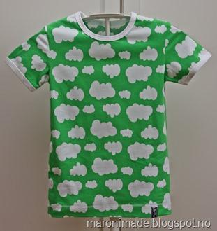 t-skjorte skyer grønn ikke publ