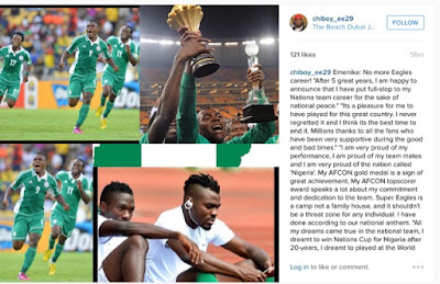 Not Again, Another Super Eagles Star Quits International Football