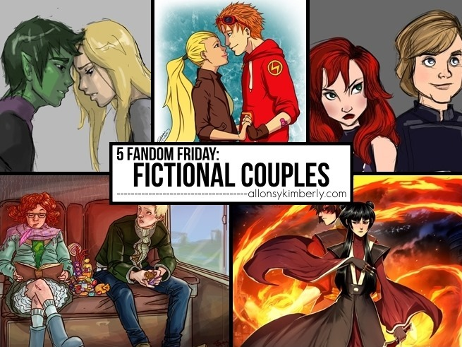 5 Fandom Friday: Favorite Fictional Couples | allonsykimberly.com