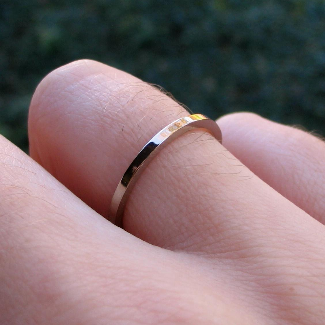 Palladium White Gold Wedding Band - Size 6.5. From SoloArtworks
