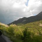 sur la route, le clocher de Méolans