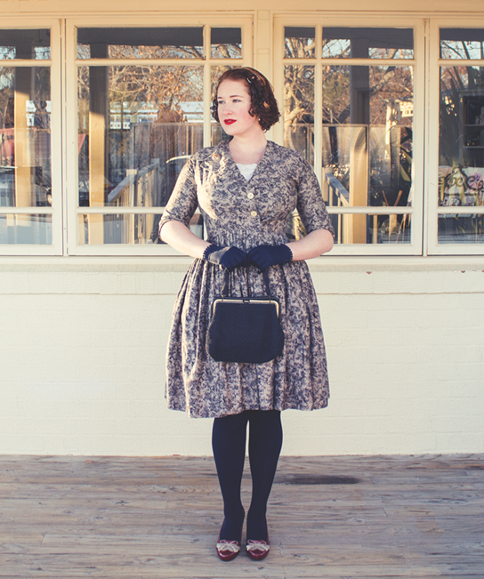 Vintage winter warmth with accessories; gloves and thick stockings | Lavender & Twill