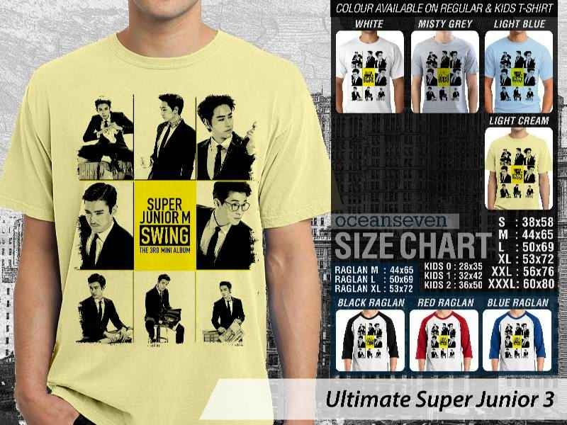 Kaos K Pop SUJU Ultimate Super Junior 3 Boy Band Asal Korea distro ocean seven