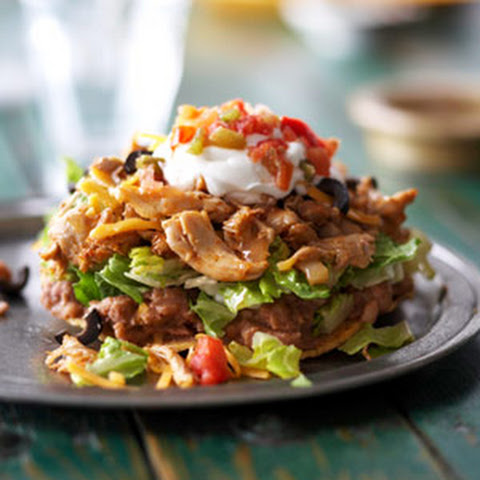 Chicken Tostadas with Black Bean Salsa