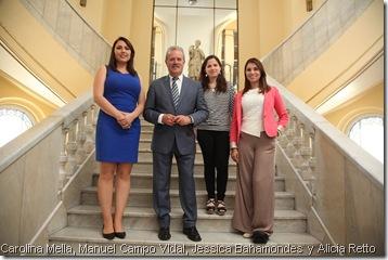 Carolina Mella, Manuel Campo VIdal, Jessica Bahamondes y Alicia Retto
