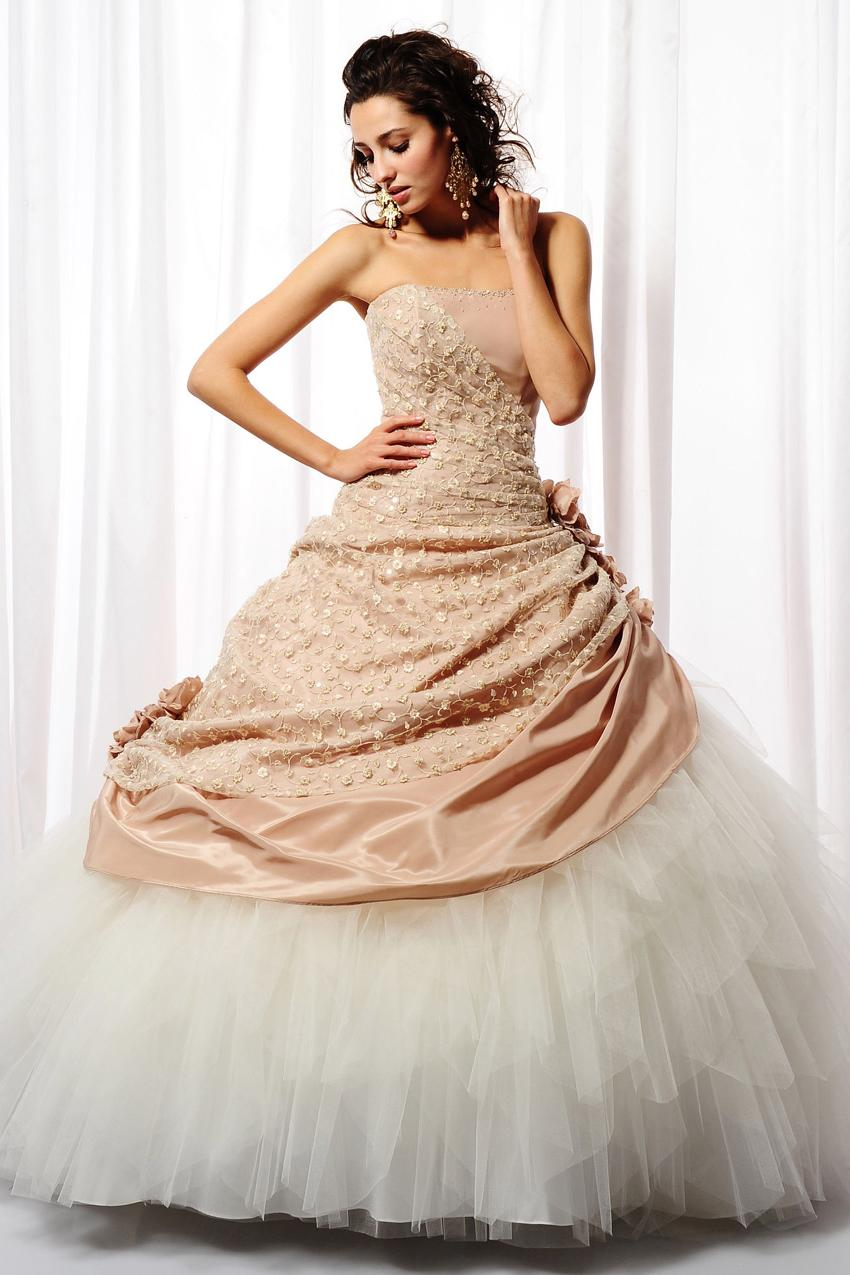Ball Gown Straight Neckline