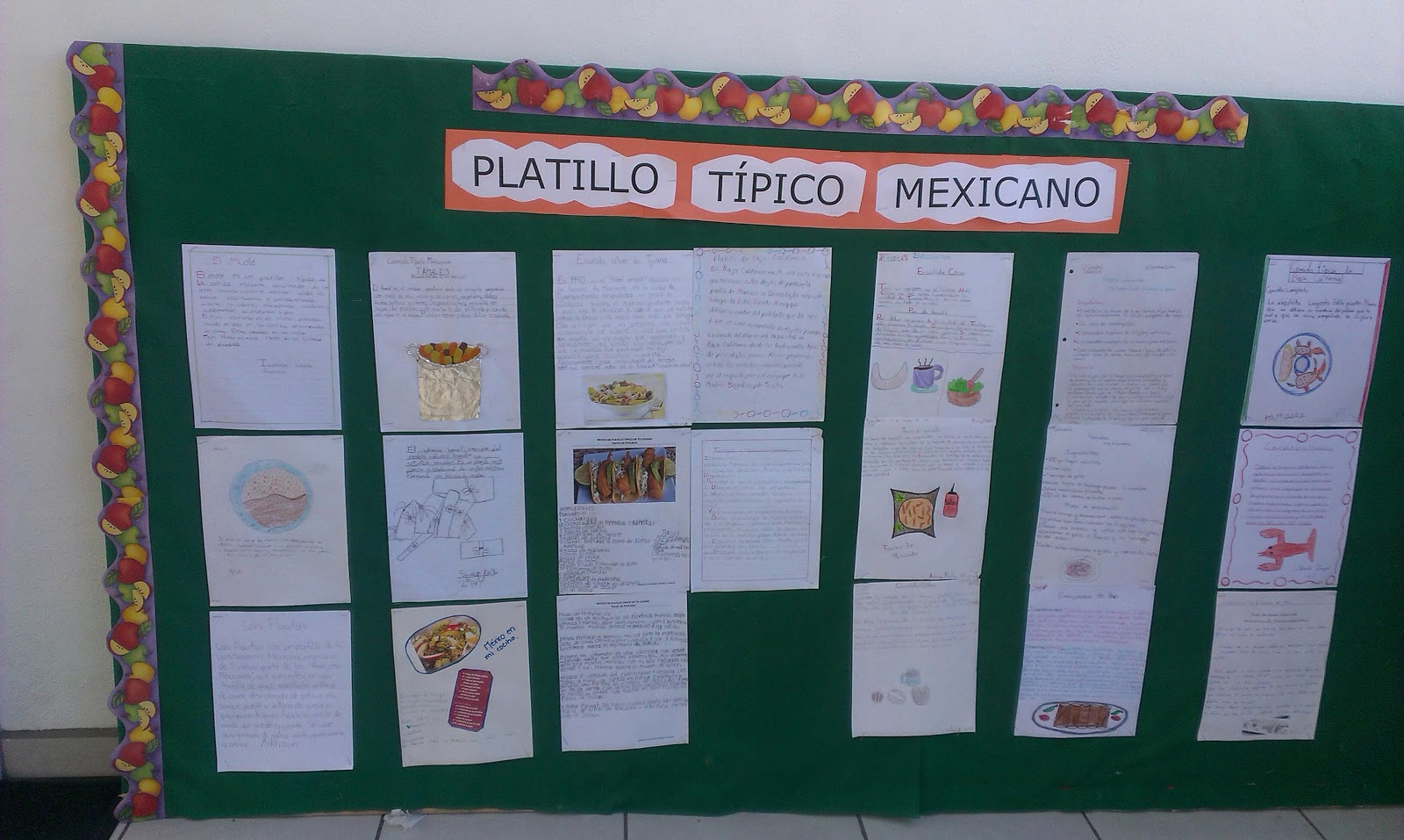 Peques club peri dico mural sobre comidas t picas for Estructura de un periodico mural escolar