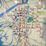 osaka subway map in Osaka, Osaka, Japan