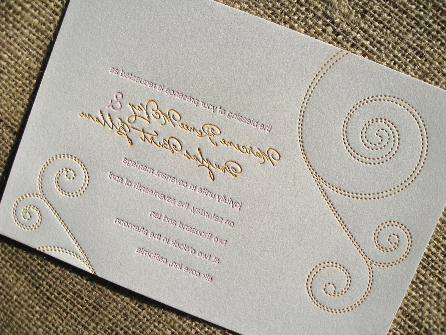 DarChelle 39 S Blog Modern Wedding Invitation With A Perforated RSVP Postca