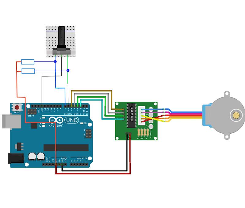 Управление шаговыми двигателем кнопками