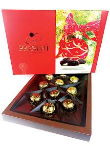 """Конфеты шоколадные """"Present"""", новогодний набор, красный, 160г"""