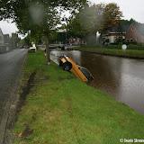 Auto te water in Oude Pekela - Foto's Teunis Streunding