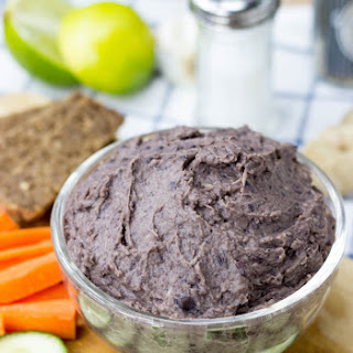 High Protein Black Bean Lime Dip (Vegan, 10 Minutes)