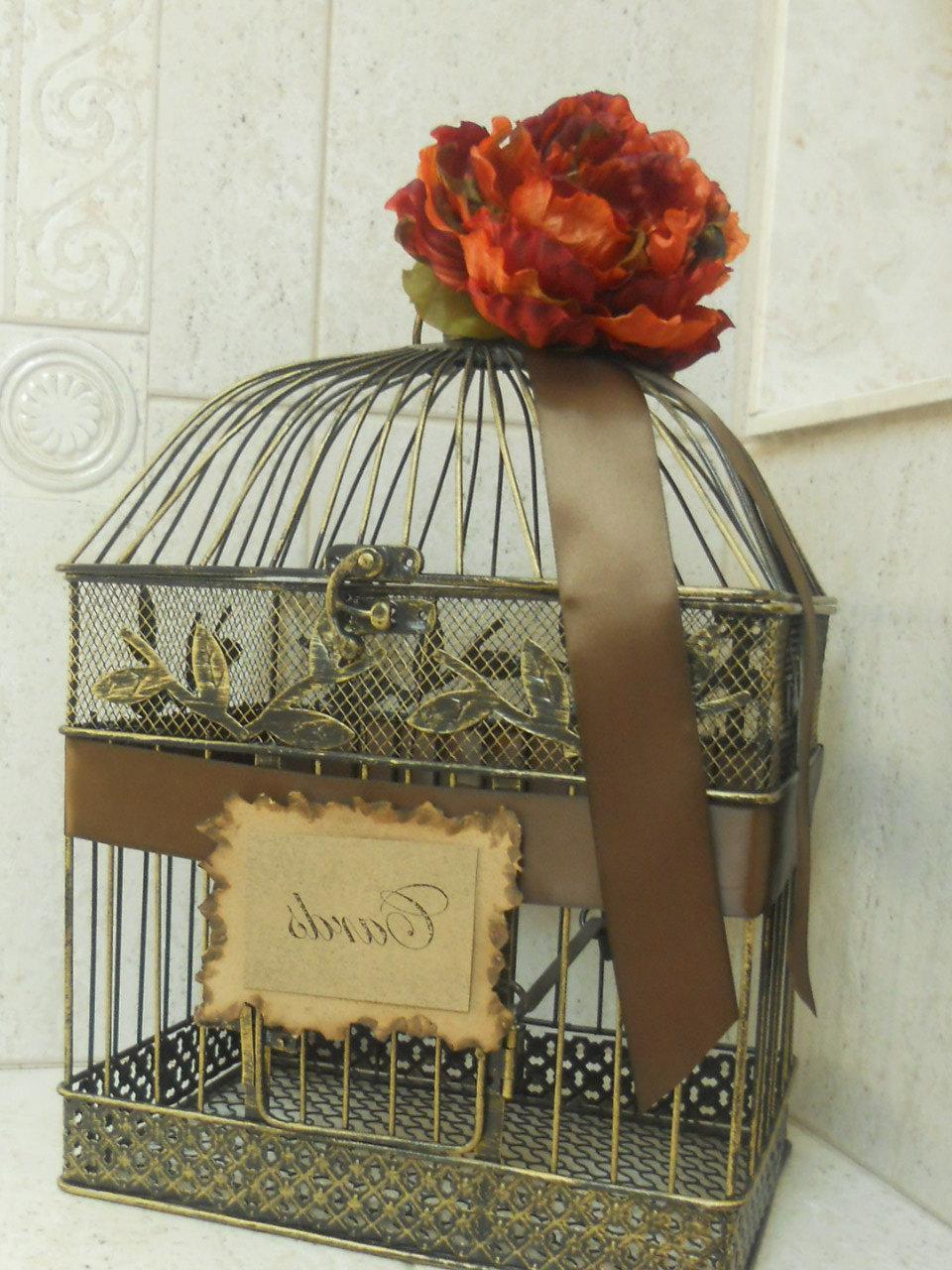 Birdcage Wedding Card