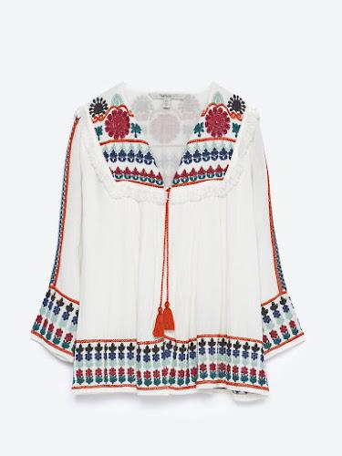 Sobre camisa étnica de Zara