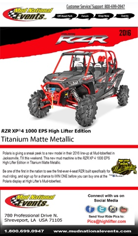 RZR XP 4 1000 EPS High Lifter Edition
