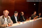 V-20: Mesa redonda: Wolf Moser, Carles Trepat, Vicente Roncero, compositor y moderador de la mesa, Adrián Rius e Ignacio Rodes