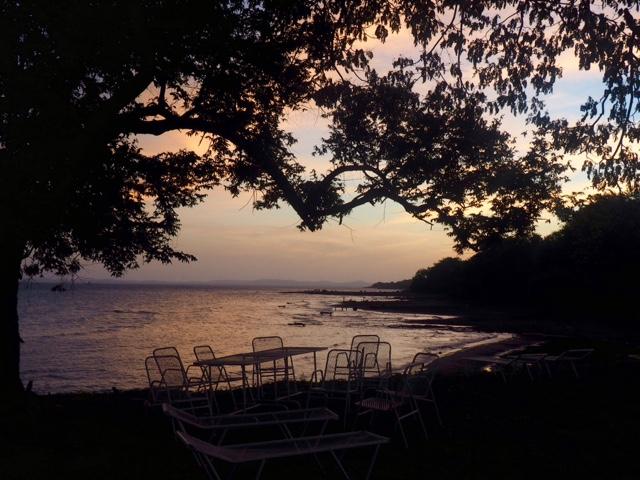 Beach sunset on Ometepe Island, Nicaragua