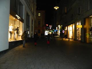 Noční Brno, ideální prostředí pro Vlajkovou :-)