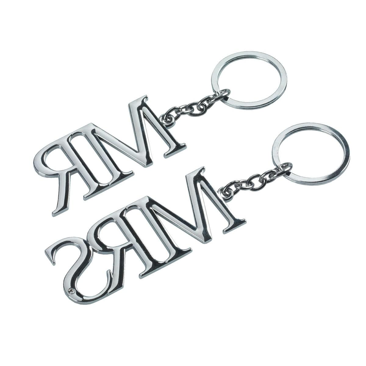 Mr & Mrs Keyring Set