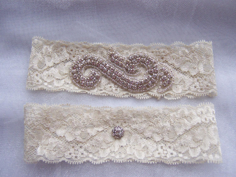 Lace Bridal Garter Set,