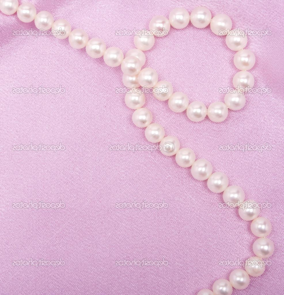 images of satin and pearls