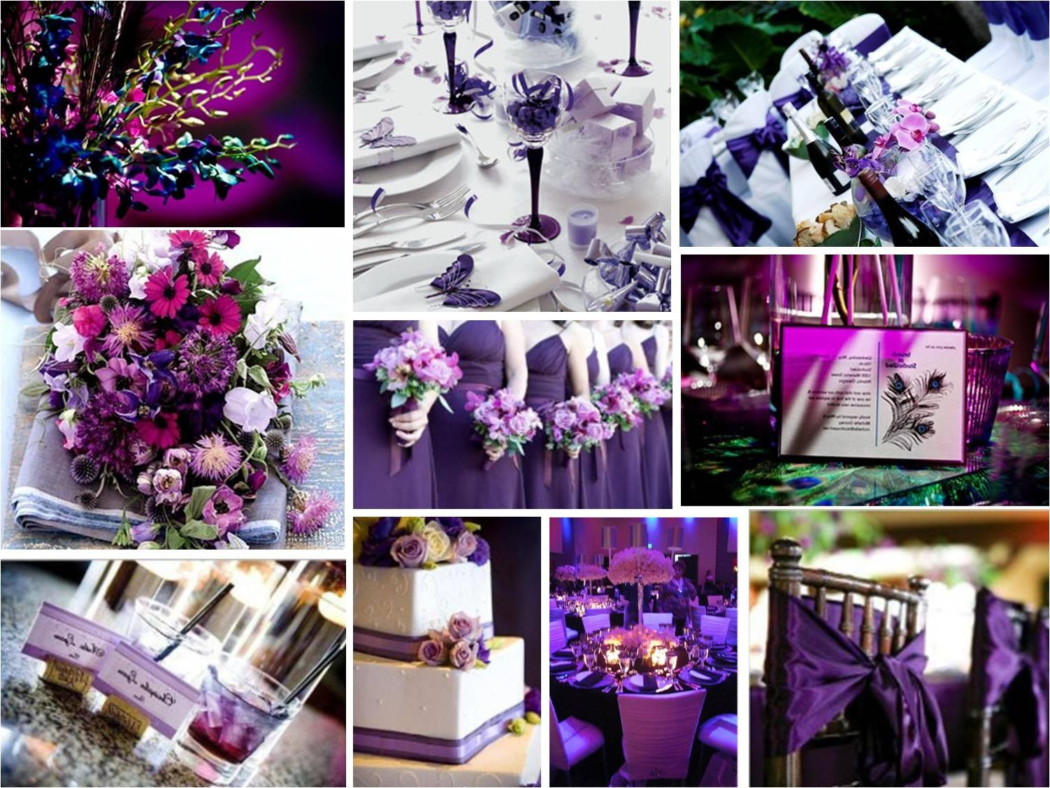 Fancy Purple Wedding Theme Reception Gallery Wedding Flower