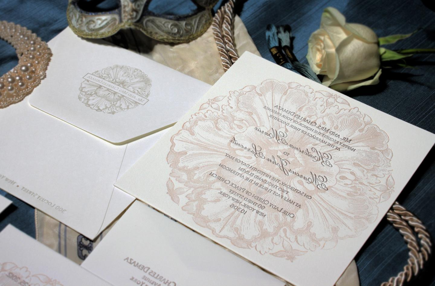 An invitation suite includes