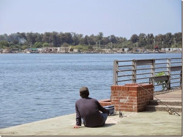 碧海碼頭的海景與孤獨